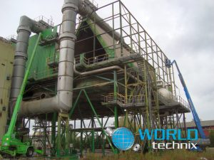 power plant heat exchanger machinery disassembly and relocation