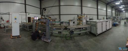 Montaż maszyn produkcji paneli fotovoltaicznych 02