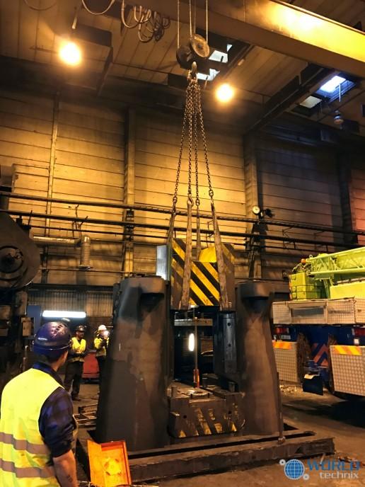 dismantling relocation forging hammer industry